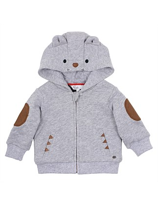Oskar Bear Hooded Jacket(3M-24M)
