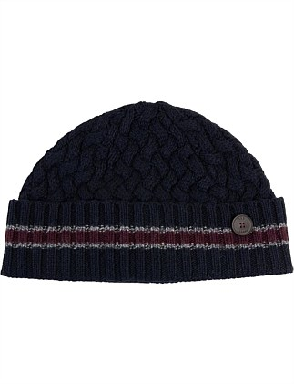 LARGE KNITTED BEANIE (STRIPED)