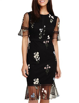 DITSY EMBROIDERED DRESS