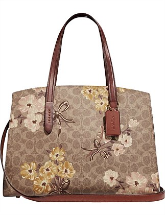 CHARLIE CARRYALL IN SIGNATURE CANVAS WITH PRAIRIE  FLORAL