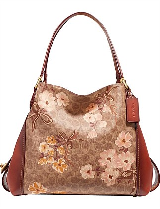 EDIE SHOULDER BAG 31 IN SIGNATURE CANVAS WITH PRAIRIE FLORAL