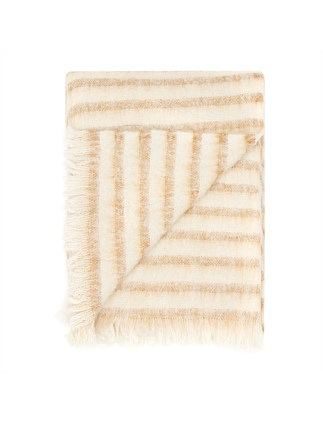 100% Alpaca Throw Almond