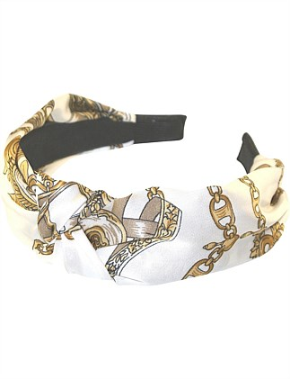EQUESTRIAN TURBAN KNOT ALICE BAND