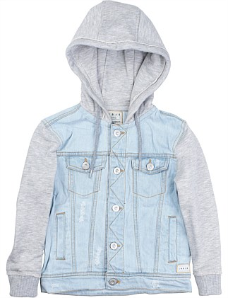 DENIM HOODED JACKET (Boys 3-7)