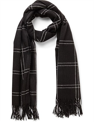PICK STITCH CHECK SCARF