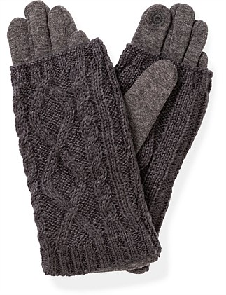 PONTE GLOVE WITH KNIT TRIM