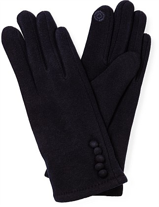 PONTE GLOVE WITH 5 BUTTONS