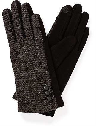 PONTE GLOVE WITH TWEED