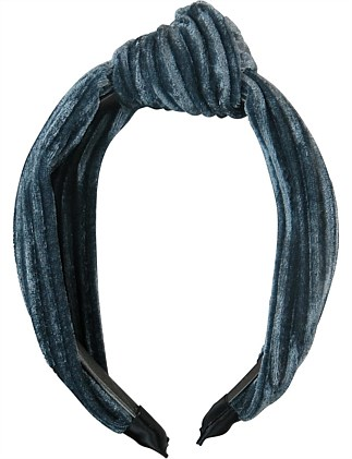 Pleated velvet turban look headband