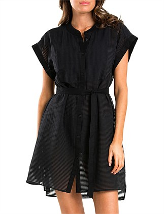 Parallels Shirt Dress