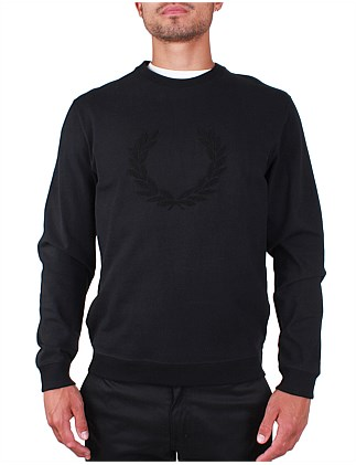 Textured Laurel Wreath Sweat