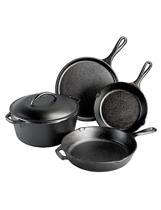 Essential Cast Iron 5 Piece Cookware Set