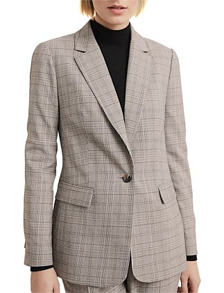 Check Single Breasted Blazer