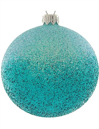 ORN-TURQUOISE OMBRE GLITTER BAUBLE