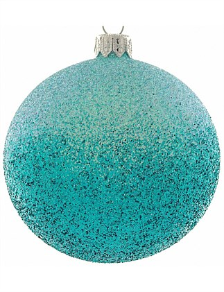 ORN-PINK TO BLUE OMBRE GLITTER BAUBLE