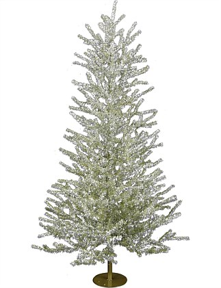 Christmas Tree 120cm Antique gold tinsel tree