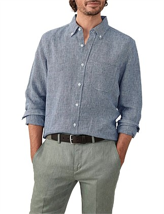 Puppytooth Linen Shirt