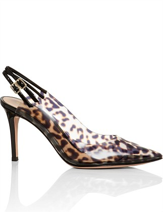 PUMP WITH PLEXI LEOPARD