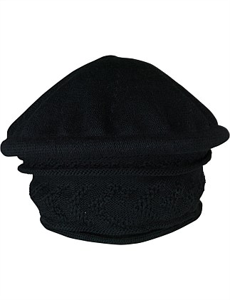 b6913654aec Black padded machine knit pull on ...