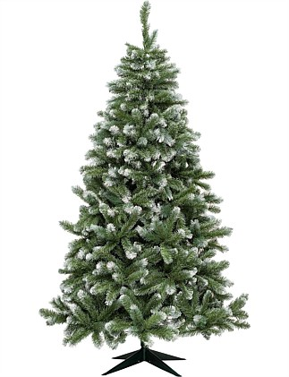 Vail Grey Green Christmas Tree with Frost Tips 210cm