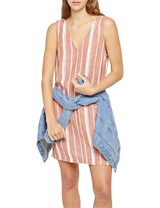 Danni Stripe Linen Shift Dress