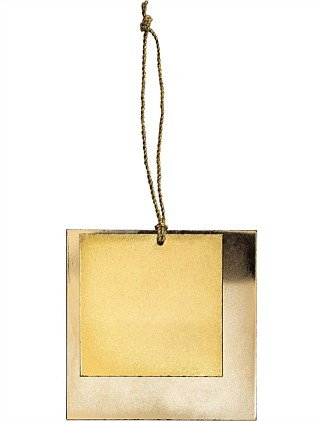 Double Square Metal Plate Ornament