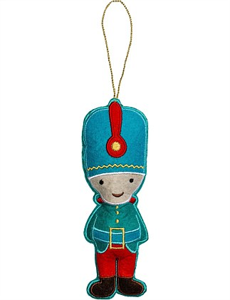 Fabric Blue Nutcracker Ornament