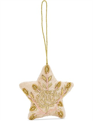 Embroidred Star Ornament