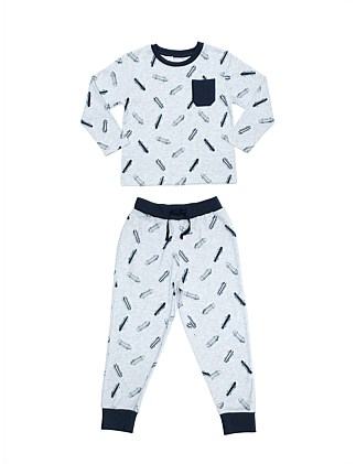 Boys PJs Skate Yardage Set (Boys 2-7 Yrs)