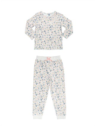 Girls PJs Floral Set (Girls 2-7 Yrs)