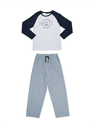 Boys PJs Skate Raglan Set (Boys 8-14 Yrs)