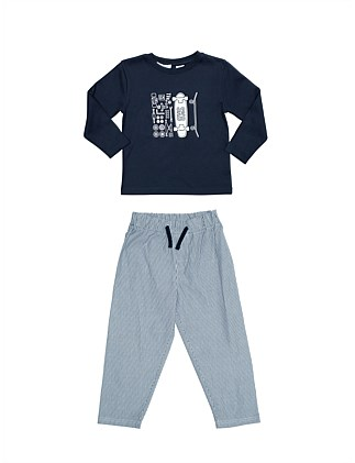Boys PJs Skate Placement Set (Boys 2-7 Yrs)