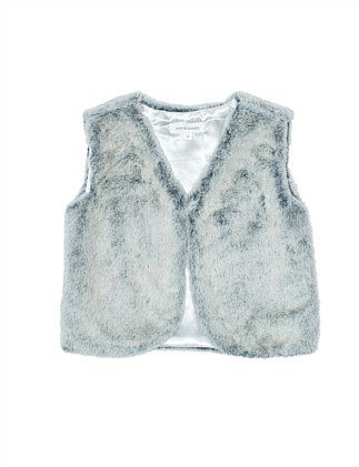 Faux Fur Gilet (Girls 2-7)