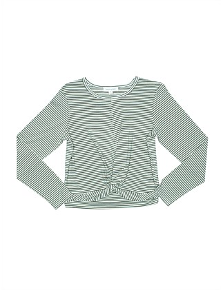Twist Front L/S Top (Girls 8-16)
