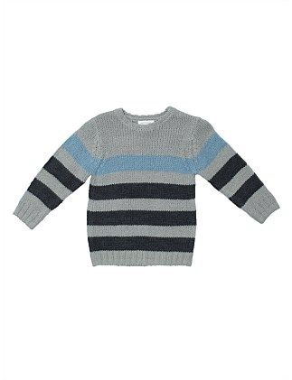Knitted Stripe Jumper (Boys 2-7)
