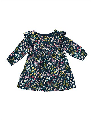 Printed Twill Yardgae Smock Dress(3M-24M)