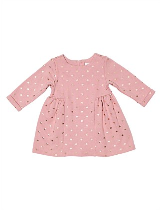 Foil Printed Terry Dress(3M-24M)