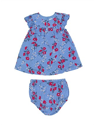 Frill Dress With Bloomer(3M-24M)