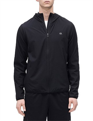 0b69fe80a59 CALVIN KLEIN PERFORMANCE LOGO HOOD WINDJACKET ...