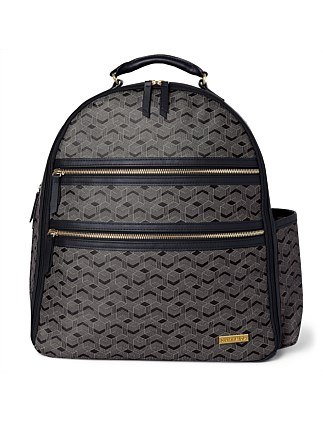 Deco Saffiano Backpack- Interweaved Lines