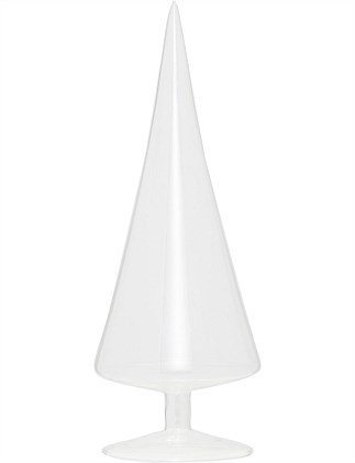 Décor-Glass Cone Tree Clear 30 cm