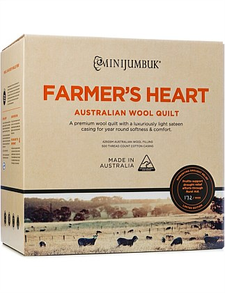 Farmer's Heart Australian Wool Quilt Single