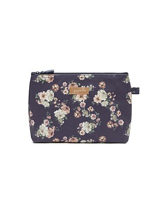 Fleur Navy Medium Cosmetic Bag
