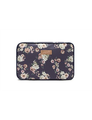 Fleur Navy Large Cosmetic Bag