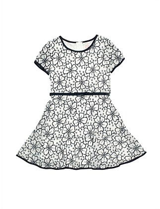 Emboidered floral ruffle dress (Girls 3-7 Years)