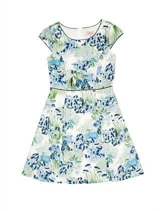 Floral panelled dress (Girls 3-7 Years)