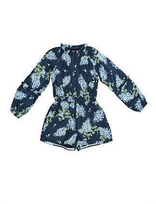 Floral printed playsuit (Girls 8-16)
