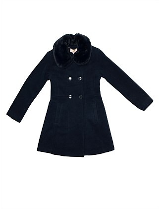 Coat with detachable faux fur collar (Girls 8-16)