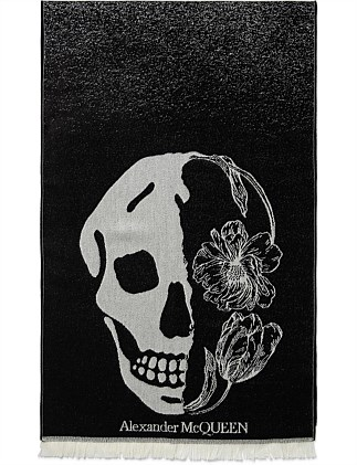 Sc Flower Skull Degrade Scarf