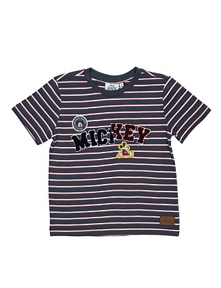 Mickey Mouse Stripe Tee (Boys 3-10)